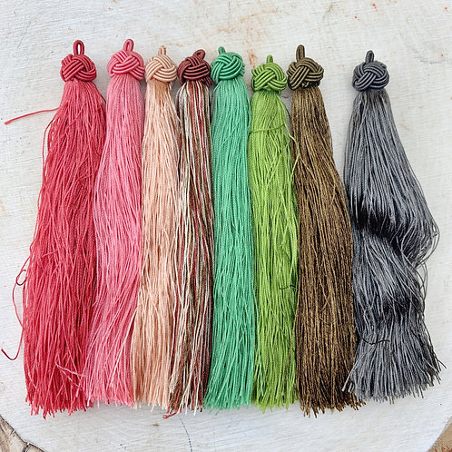 Assorted Tassels Knot-top