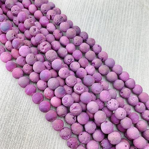 Druzy Agate Pink 6 mm