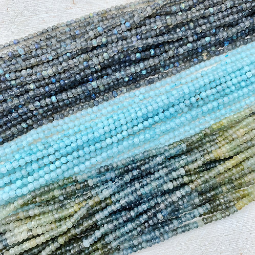 Lot 37 - 3x Faceted Gemstone Strands