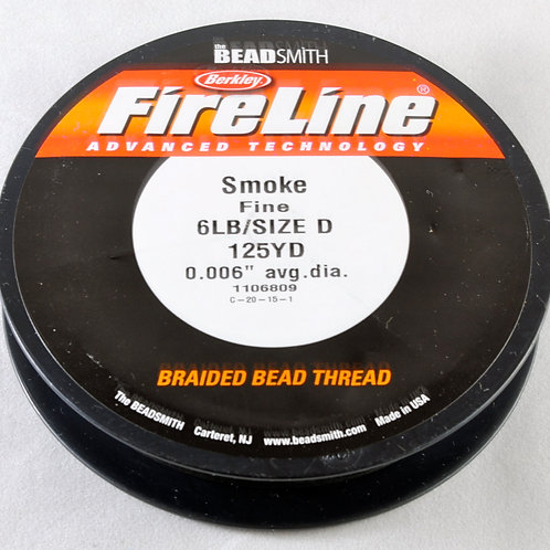 Fireline braided beading thread-CRYSTAL