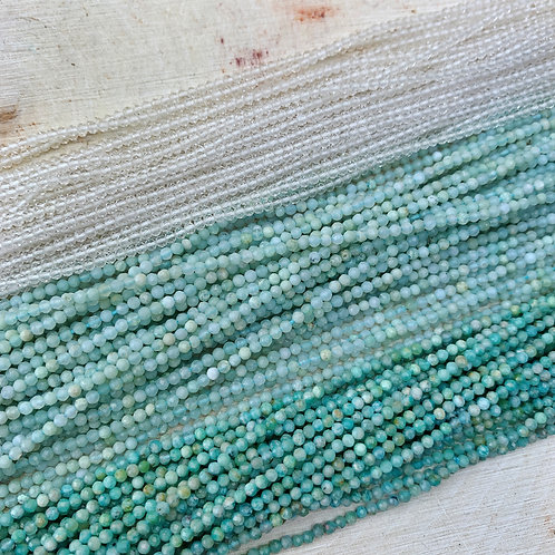 Lot 29 - 3x Strands 2mm Faceted Gemstones