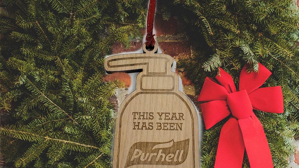 """Purhell"" Covid Christmas Ornament"