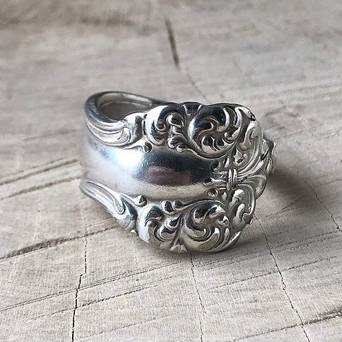 Floral spoon ring size 10