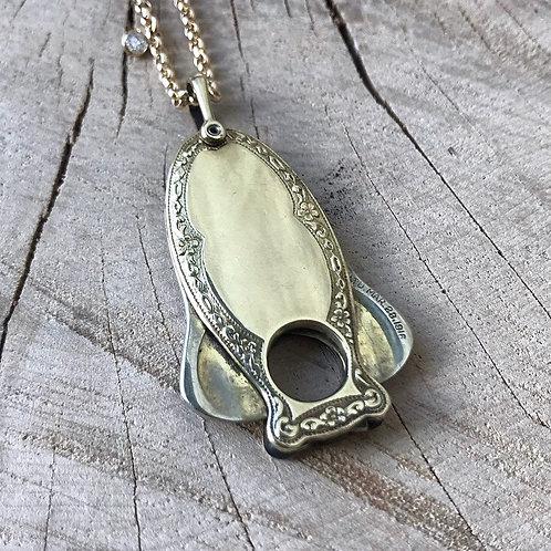 Antique zeppelin cigar cutter necklace