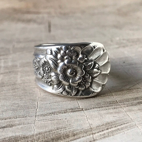 Floral spoon ring size 9.5