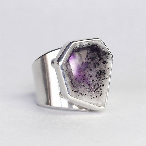 SHARD Amethyst slice architectural ring