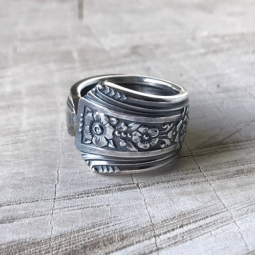 Floral spoon ring size 4.5
