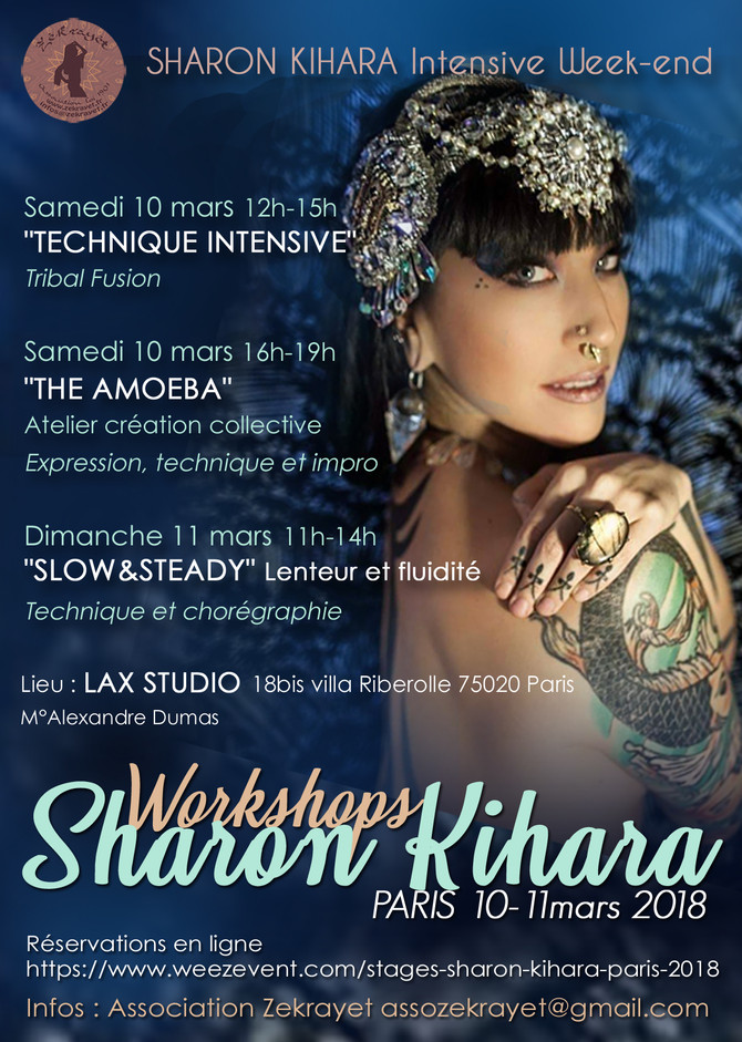 STAGES avec SHARON KIHARA 10-11 mars 2018