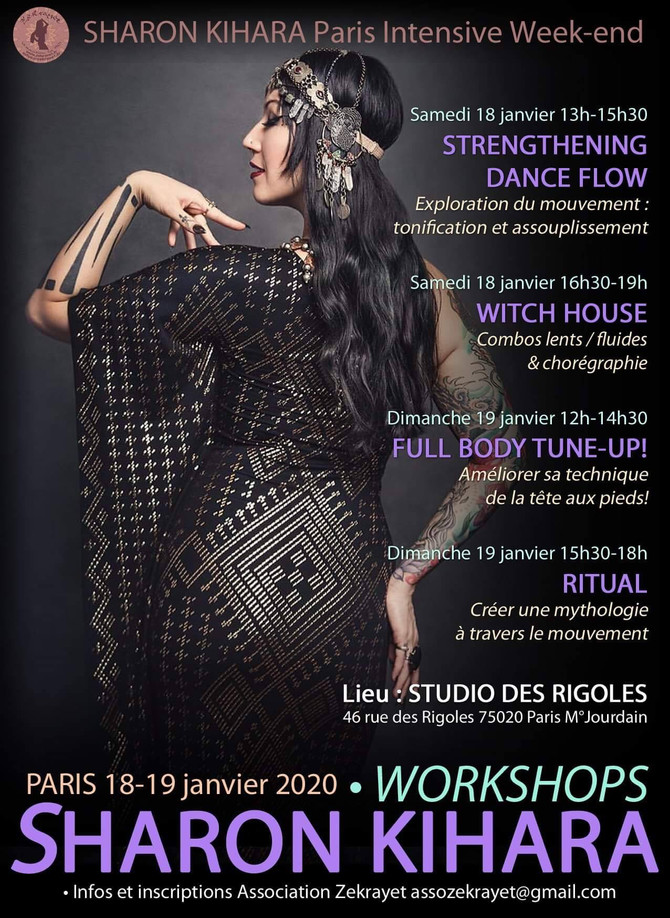 Stages Sharon Kihara 18-19 janvier 2020