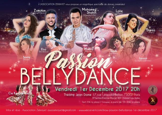 Spectacle PASSION BELLYDANCE 1er décembre 20h