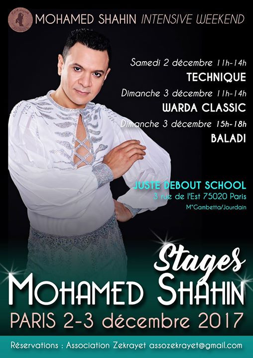 STAGES MOHAMED SHAHIN 2-3 décembre 2017