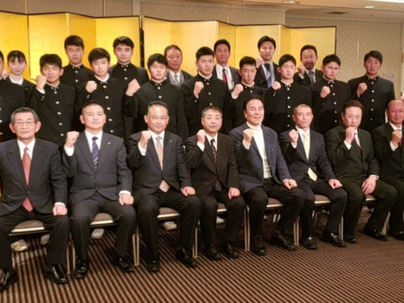 第118期OB会入会式を開催しました。令和2年1月31日