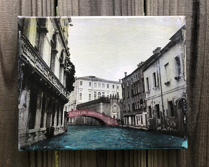 """Venice"", Mixed media painting"