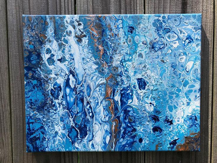 """Sea Spray"", Abstract acrylic painting"