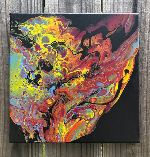 """""""Electric Wonderland"""", Abstract acrylic painting"""
