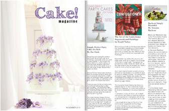 Book review of The Art Of The Confectioner on Cake! Magazine by the Australian Cake Decorating Netwo