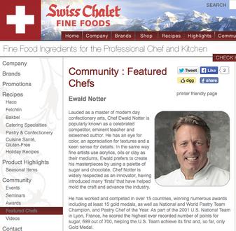 Swiss Chalet: Featured Chefs