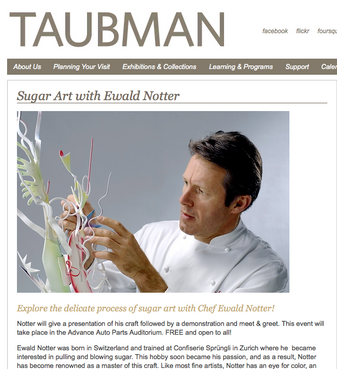 Taubman Museum of Art - Sugar Art with Ewald Notter