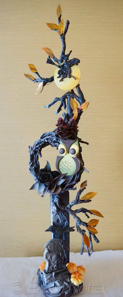 Halloween owl chocolate showpiece
