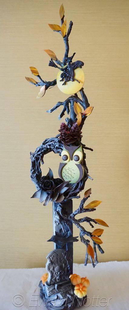 Halloween owl chocolate showpiece