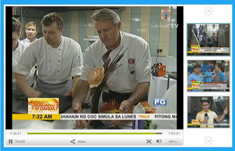 Chef Ewald Notter on TV in Manila