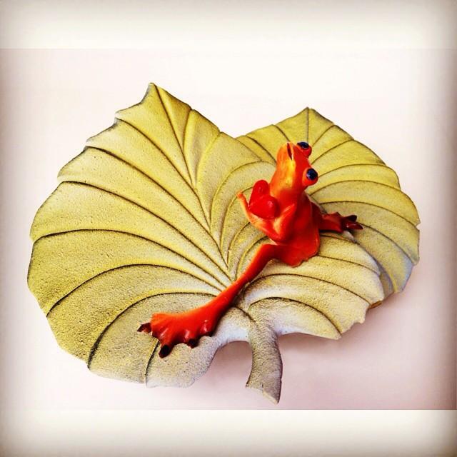 Frog on leaf 11June2015