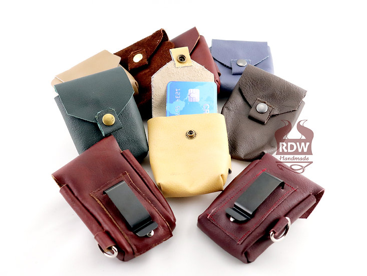 Leather Card Pouches