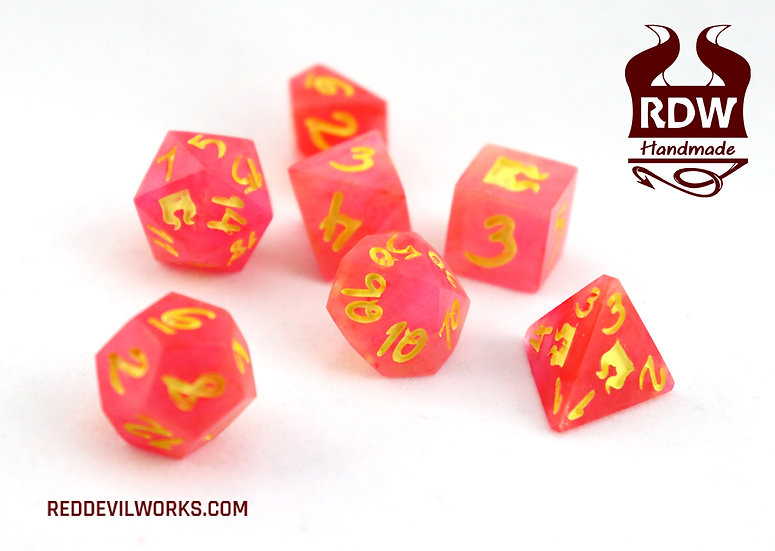 Pink Lemonade Dice - 7 Set