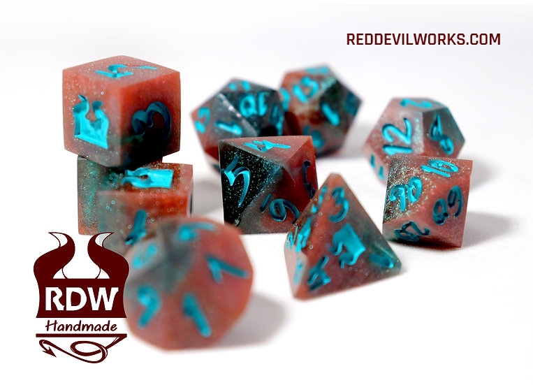 Saturn Sands Dice set - Finished - Painted
