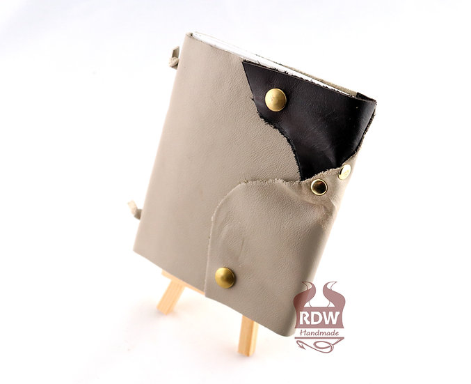 Leather Journal - Cream and Brown - Beige Interior