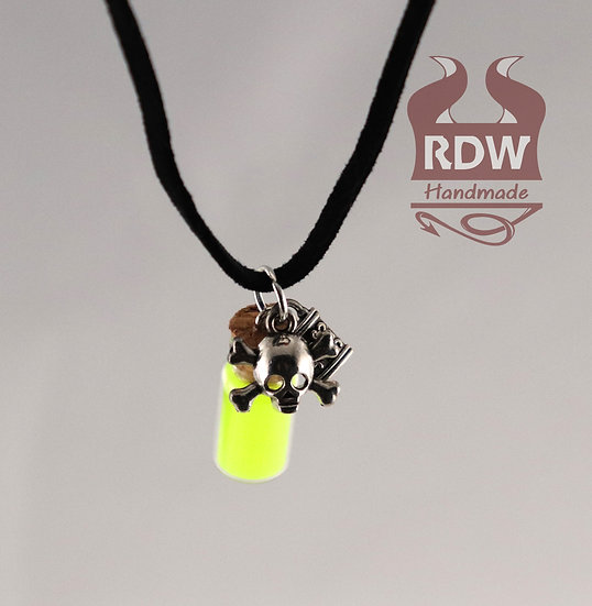 Yellow Glow Bottle Necklace