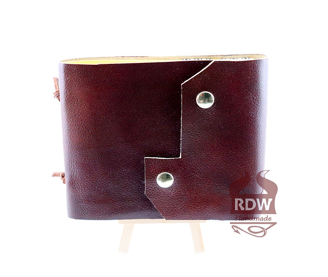 Leather Journal - Bright brown - Yellow Interior