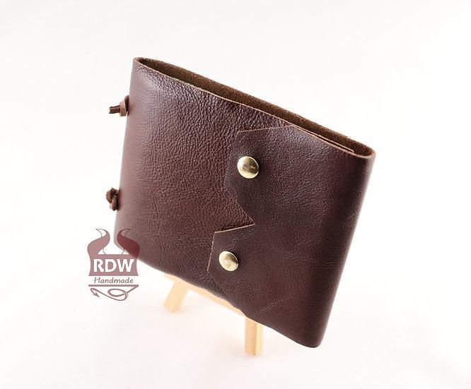 Leather Journal - Red-Brown - Jaguar Green Interior