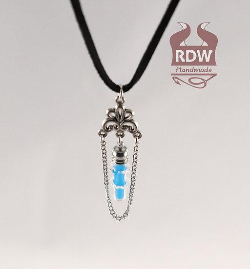 Blue Vial Glow Necklace