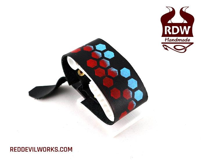 Red Blue Hexes Bracelet