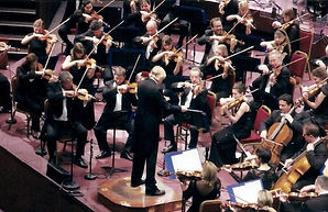 Janusz conducting the Royal Philharmonic