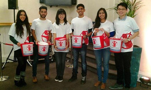 Volunteer Save The Children collectors,