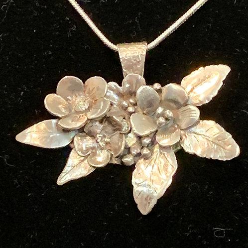 Silver Metal Clay Necklace by Sue Broadway