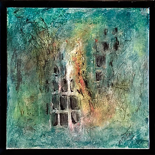 Aftermath by Anne Cotter      Cold Wax and Oil 12x12