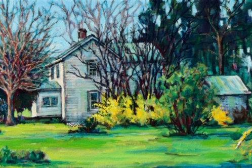 Spring by Brenda Sylvia     Acrylic on Canvas   12x24