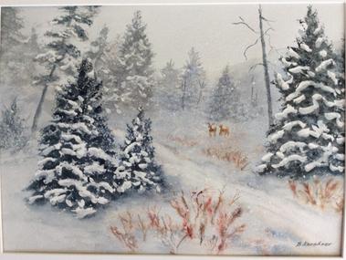 January Gallery Windows Snowmageddon and Barbara Kershner By Ellen Huddy