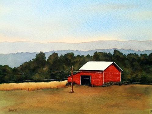 Shenandoah Barn by Doug Mock     Watercolor 16x20