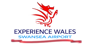 swansea airport, fly swansea, experience wales, logo