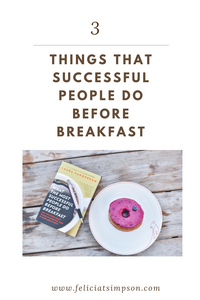 Pinterest graphic with a book and donut