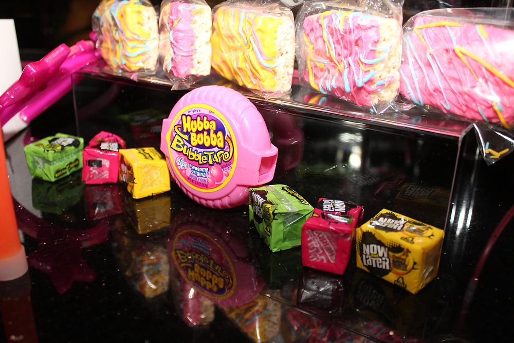 90's candy and treats display at Werk Pray Slay