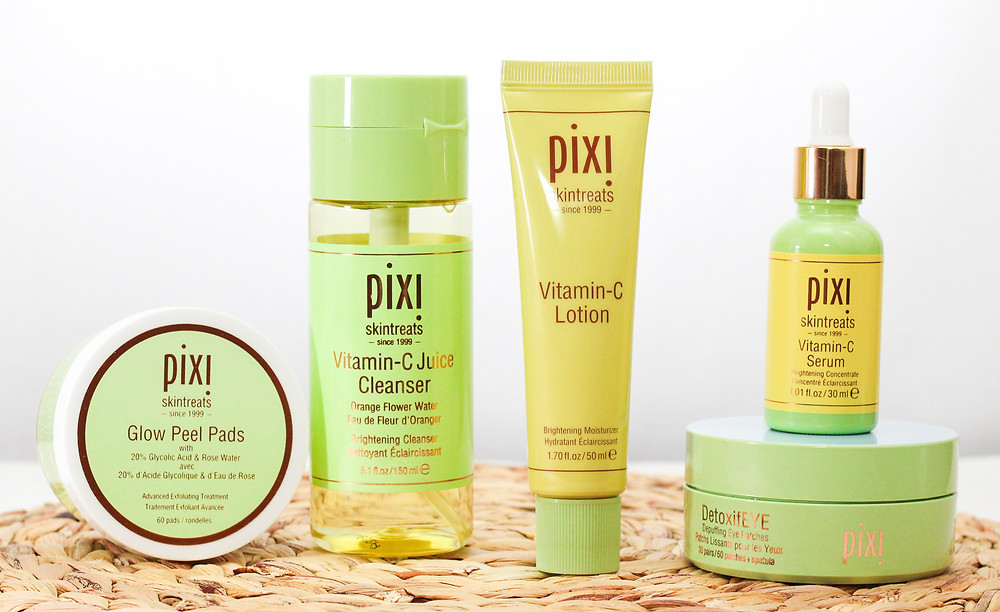 Pixi beauty products.