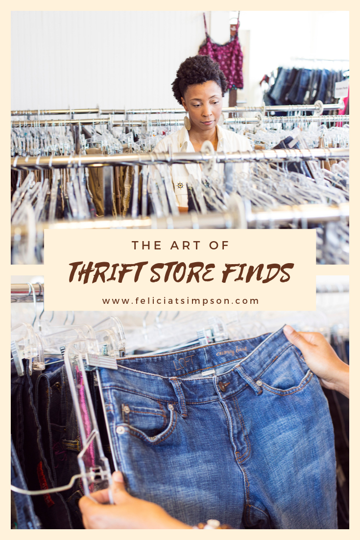 Black woman shopping at a thrift store