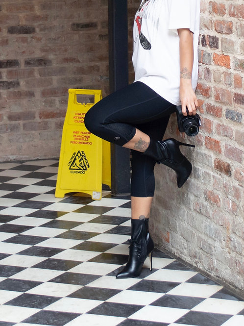 ShoeDazzle Pointed Ruffle Bootie