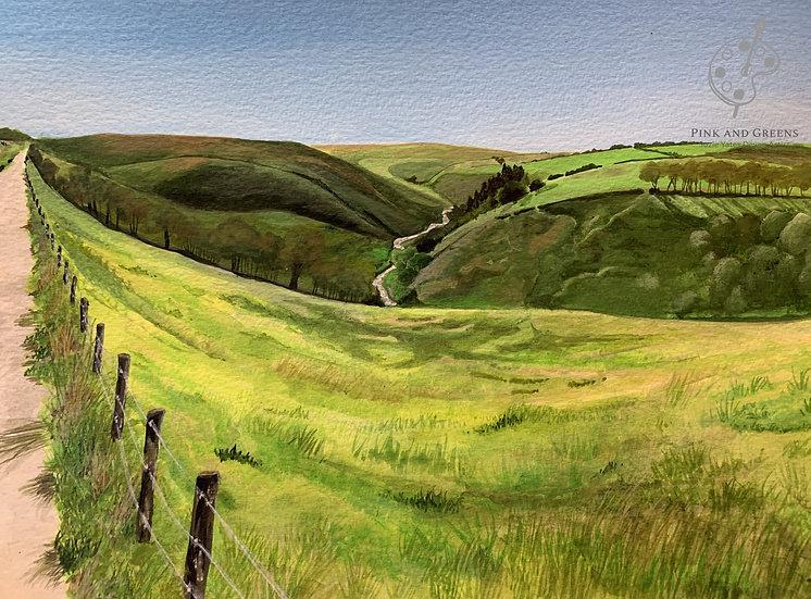 Barle Valley A5 Blank Greetings card