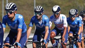 A celebrar en grande Abner González en Il Lombardia junto al Movistar Team